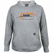 Chase Authentics JR Nation Youth Primary Pullover Hoodie - Ash