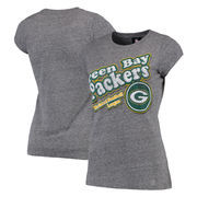 Green Bay Packers Women's Tri-Blend Slim Fit T-Shirt - Ash