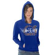 New York Knicks Women's Teamwork Pullover Hoodie - Royal Blue