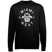 Miami Heat adidas Youth Classic Basket Long Sleeve T-Shirt - Black