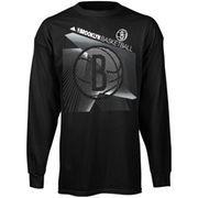 Brooklyn Nets adidas Youth Classic Basket Long Sleeve T-Shirt - Black