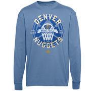Denver Nuggets adidas Youth Classic Basket Long Sleeve T-Shirt - Light Blue