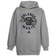 adidas Orlando Magic Youth Classic Basket Pullover Hoodie - Ash