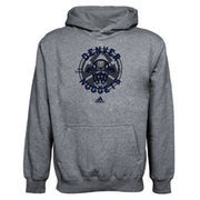 adidas Denver Nuggets Youth Classic Basket Pullover Hoodie - Ash
