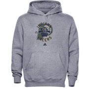 adidas Indiana Pacers Youth Classic Basket Pullover Hoodie - Ash