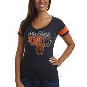 '47 Brand New York Knicks Women's Gametime T-Shirt - Navy Blue