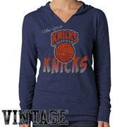 '47 Brand New York Knicks Women's Hardwood Classic Primetime Hoodie - Navy Blue