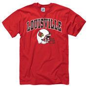 Louisville Cardinals Youth Football Helmet T-Shirt - Red