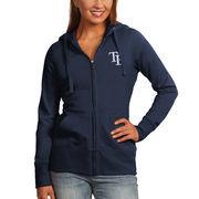 Tampa Bay Rays Antigua Women's Full-Zip Hoodie - Navy