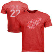 Old Time Hockey Dino Ciccarelli Detroit Red Wings Alumni Player Vintage Heathered T-Shirt - Red