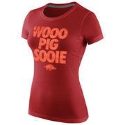Nike Arkansas Razorbacks Women's Local T-Shirt - Cardinal