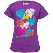 Chase Authentics Tony Stewart Youth Girls Princess T-Shirt - Purple
