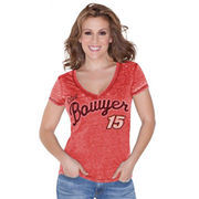 Touch by Alyssa Milano Clint Bowyer Women's Addison V-Neck T-Shirt - Red