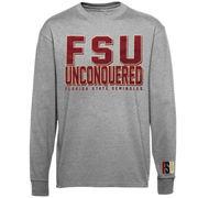 Florida State Seminoles (FSU) Stadium Spirit Long Sleeve T-Shirt - Ash
