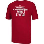 adidas Louisville Cardinals Rise Up Camo T-Shirt - Red