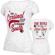 Louisville Cardinals Women's NCAA Basketball Final Four Bound T-Shirt - White