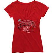 Louisville Cardinals Womens Sweet Sixteen V-Neck T-Shirt - Red