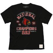 Original Retro Brand Louisville Cardinals Womens 2013 National Champions T-Shirt - Black