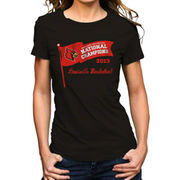 Original Retro Brand Louisville Cardinals Women's 2013 National Champions T-Shirt - Black