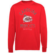Carolina Mudcats Ring Him Up Long Sleeve T-Shirt - Red