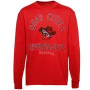 Quad City River Bandits Ring Him Up Long Sleeve T-Shirt - Red