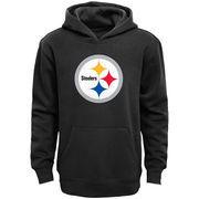 Pittsburgh Steelers Youth Primary Logo Team Color Fleece Pullover Hoodie - Black