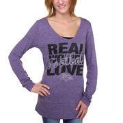 Baltimore Ravens New Era Women's Real Women Love Long Sleeve T-Shirt - Purple