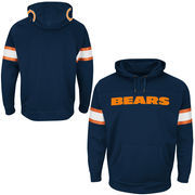 Chicago Bears Majestic Helmet Synthetic Pullover Hoodie - Navy Blue