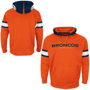 Denver Broncos Majestic Helmet Synthetic Pullover Hoodie - Orange