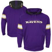 Baltimore Ravens Majestic Helmet Synthetic Pullover Hoodie - Purple