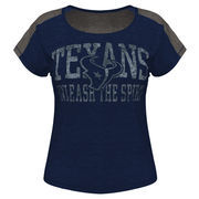 Houston Texans Majestic Women's Play For Me T-Shirt - Navy Blue