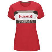 Tampa Bay Buccaneers Majestic Women's Touchdown Queen T-Shirt - Red