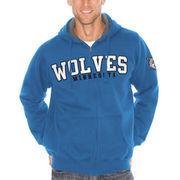 Minnesota Timberwolves Sherpa Full-Zip Hooded Sweatshirt - Royal Blue