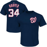 Bryce Harper Washington Nationals Majestic Official Name and Number T-Shirt - Navy