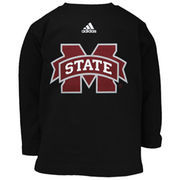 Mississippi State Bulldogs adidas Toddler Primary Logo Long Sleeve T-Shirt - Black