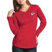 Kansas City Chiefs Antigua Women's Flip Long Sleeve T-Shirt - Red