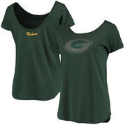 Green Bay Packers Women's Back Track Scoop T-Shirt - Green
