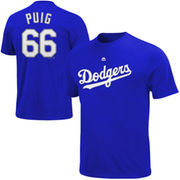 Yasiel Puig Los Angeles Dodgers Majestic Big & Tall Official Player T-Shirt - Royal