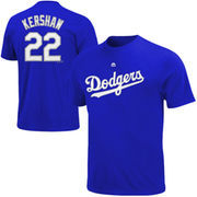Clayton Kershaw Los Angeles Dodgers Majestic Big & Tall Official Player T-Shirt - Royal