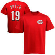Joey Votto Cincinnati Reds Majestic Official Name and Number T-Shirt - Red