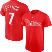Maikel Franco Philadelphia Phillies Majestic Official Name and Number T-Shirt - Red