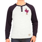 Virginia Tech Hokies Henley Raglan Tri-Blend T-Shirt - Ash