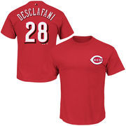 Anthony DeSclafani Cincinnati Reds Majestic Official Name and Number T-Shirt - Red