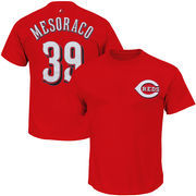 Devin Mesoraco Cincinnati Reds Majestic Official Name and Number T-Shirt - Red