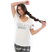 Texas A&M Aggies Let Loose by RNL Women's Hudson Pocket T-Shirt - Cream
