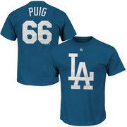 Yasiel Puig Los Angeles Dodgers Majestic Hero Time Name & Number T-Shirt - Royal Blue