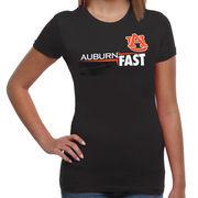 Auburn Tigers Women's Fast Tri-Blend T-Shirt - Charcoal