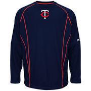 Minnesota Twins Majestic On-Field Practice Pullover Sweatshirt - Navy