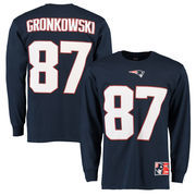 Rob Gronkowski New England Patriots Eligible Receiver II Name and Number Long Sleeve T-Shirt - Navy