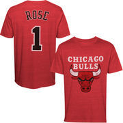 Derrick Rose Chicago Bulls Majestic Threads Tri-Blend Player T-Shirt - Red